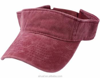 100% cotton vintage pigment dyed enzyme washed summer hat sports sun visor 601af0957c46