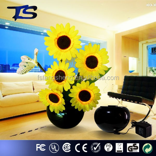 High power Festival Color change LED Fiber optic flowers/Sunflower/ holiday fiber flowers