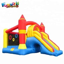 Air trampoline slide rainforest inflatable jumper mini inflatable bouncer