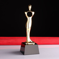 Classic Gold Man Metal Music Movie Sports Awards Oscar Statuette return gifts trophy