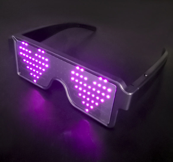 Rechargeable Light Up Neon Shutter LED Flashing Glasses Festival Rave Party LED Eye Glasses with 11 Modes