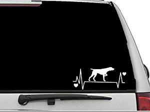 "Decal Dan - ""German Shorthaired Pointer Heartbeat Lifeline 2"" Vinyl Die Cut Car Truck Window Decal Sticker Laptop"