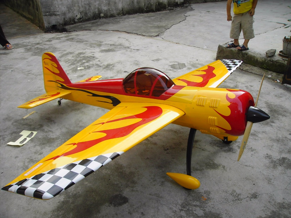 "YAK-55 86.6"" gas 50cc balsa wood rc airplanes made in china"