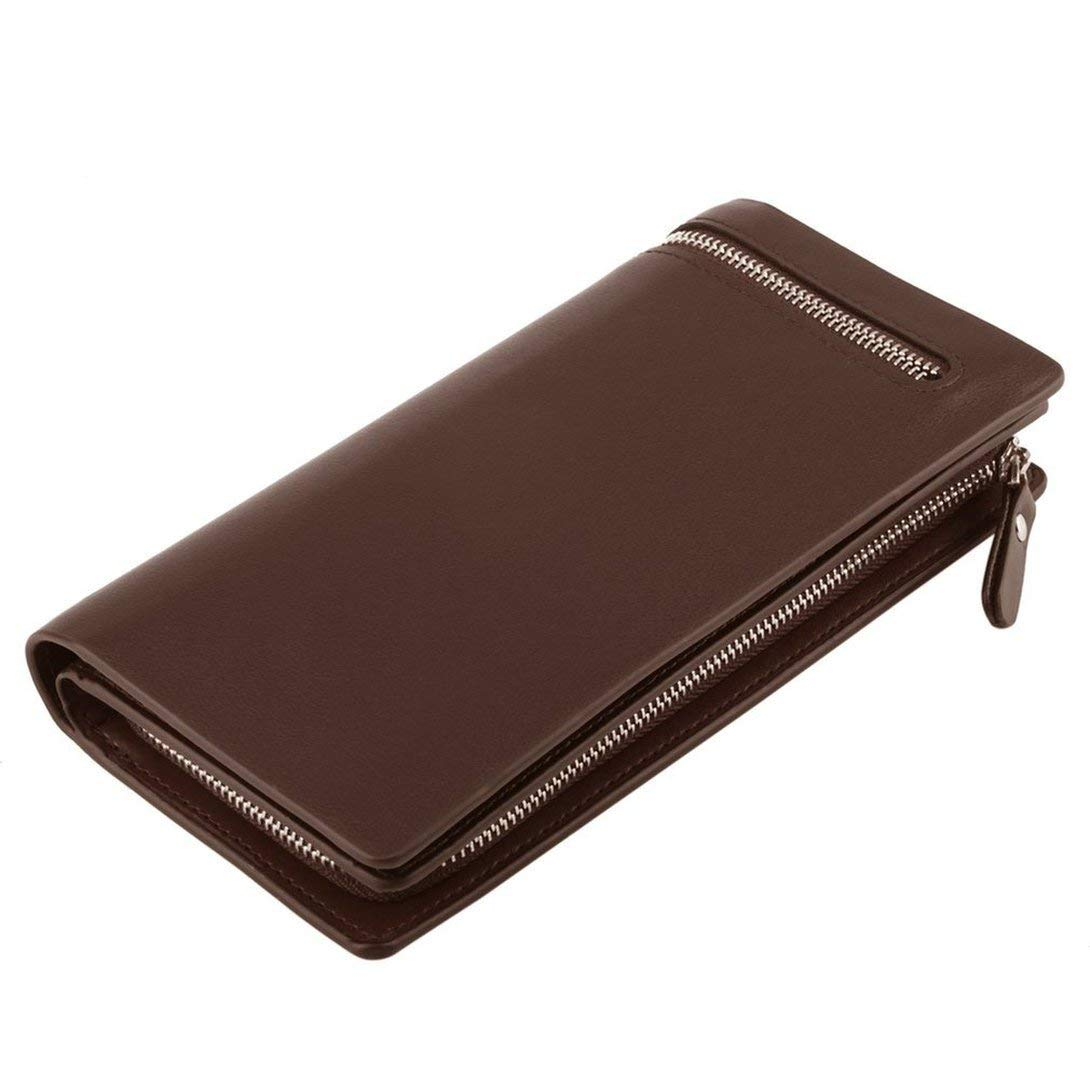 Baynne Men Purse Long Design Business Casual Money Bag Leather Wallet Gift for Men