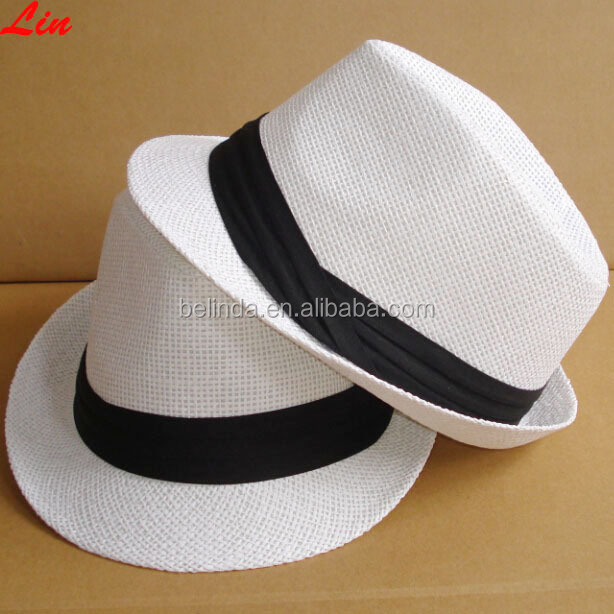 Wholesale Paper Straw Fedora Hat