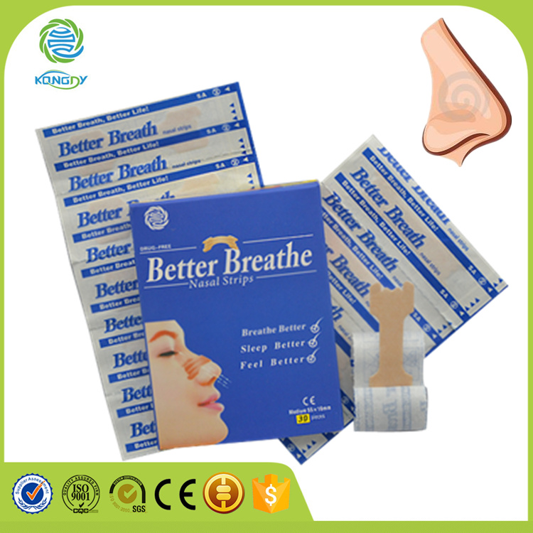 OEM manufacturer CE,ISO certifited anti snoring rhinitis better breath nasal strips