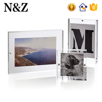 Nz M08 Clear Acrylic Photo Block Frame Magnetic Acrylic Photo Frame ...