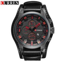 CURREN Часы мужские военные кварцевые часы мужские часы Лидирующий бренд роскошные кожаные спортивные наручные часы Дата Часы relogio masculino 8225(Китай)
