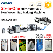 popular ultrasonic sealing fully automatic paper bag making machine for shopping bag