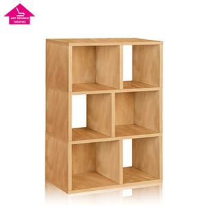 Home Furniture Solid Cabinet Wall Shelf Wood Bookcase