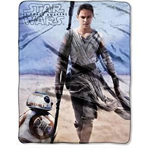 "Star Wars Episode 7: The Force Awakens ""Rebel Rey"" 40"" x 50"" Silk Touch Throw"
