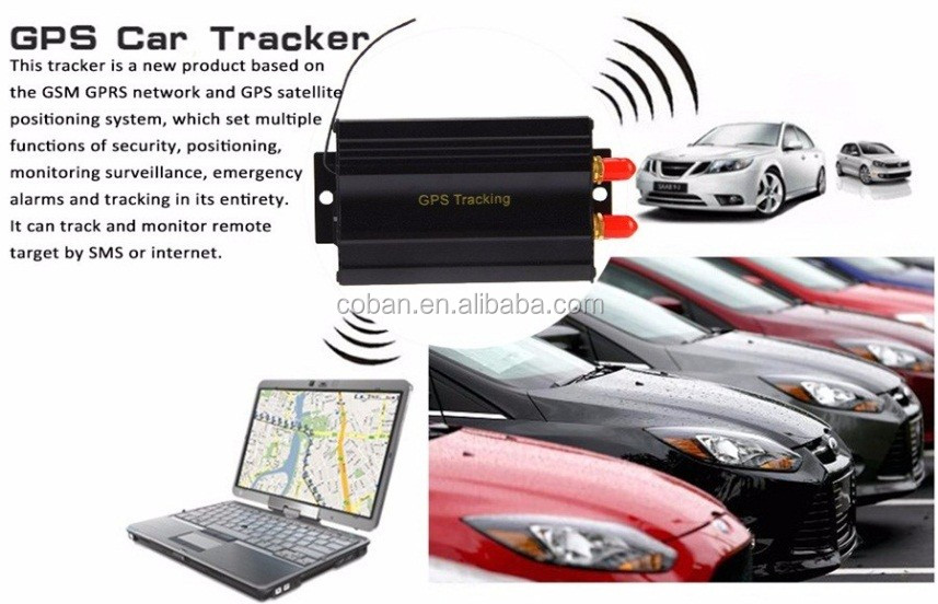 Coban original imei service GPS Tracker TK 103 with cut engine door alarm and Andriod &IOS app