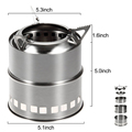 Outdoor camping Stainless Steel Wood charcoal stove portable style
