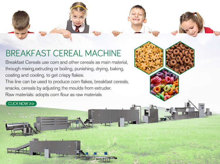 corn flakes cereals making machines