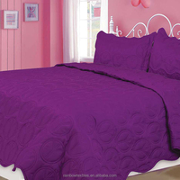 call king size ultrasonic quilt bedspread set
