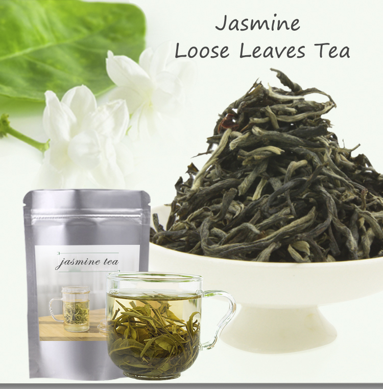 Japanese Loose Mekong Concentrated Dried Jasmine Flavored Blooming Bud Flower Green Black Tea Oolong Bud Organic EU Standard