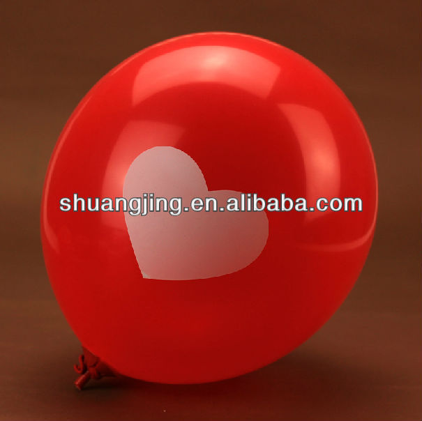 silk printing natural latex balloon wedding decoration red