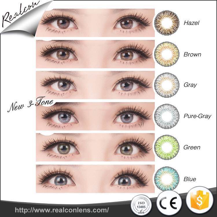 OEM available sparkling violet series soft colored contact lenses power