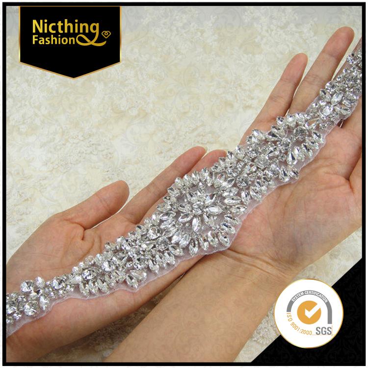 Blingbling wedding kleding rhinestone applique voor sash ontwerp nra182 product id 60346687917 - Appliques exterieures ontwerp ...