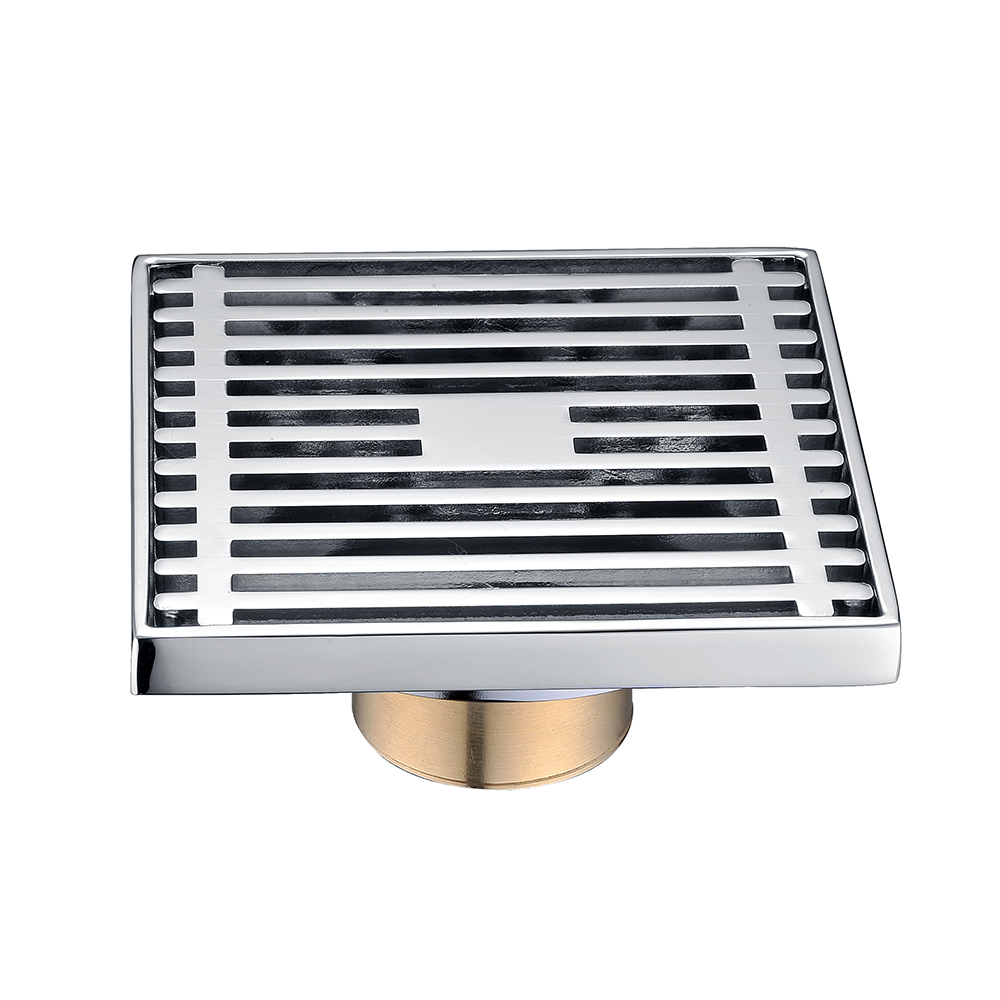 4 inch anti-odor heavy duty chrome plated brass floor drain with filter cover
