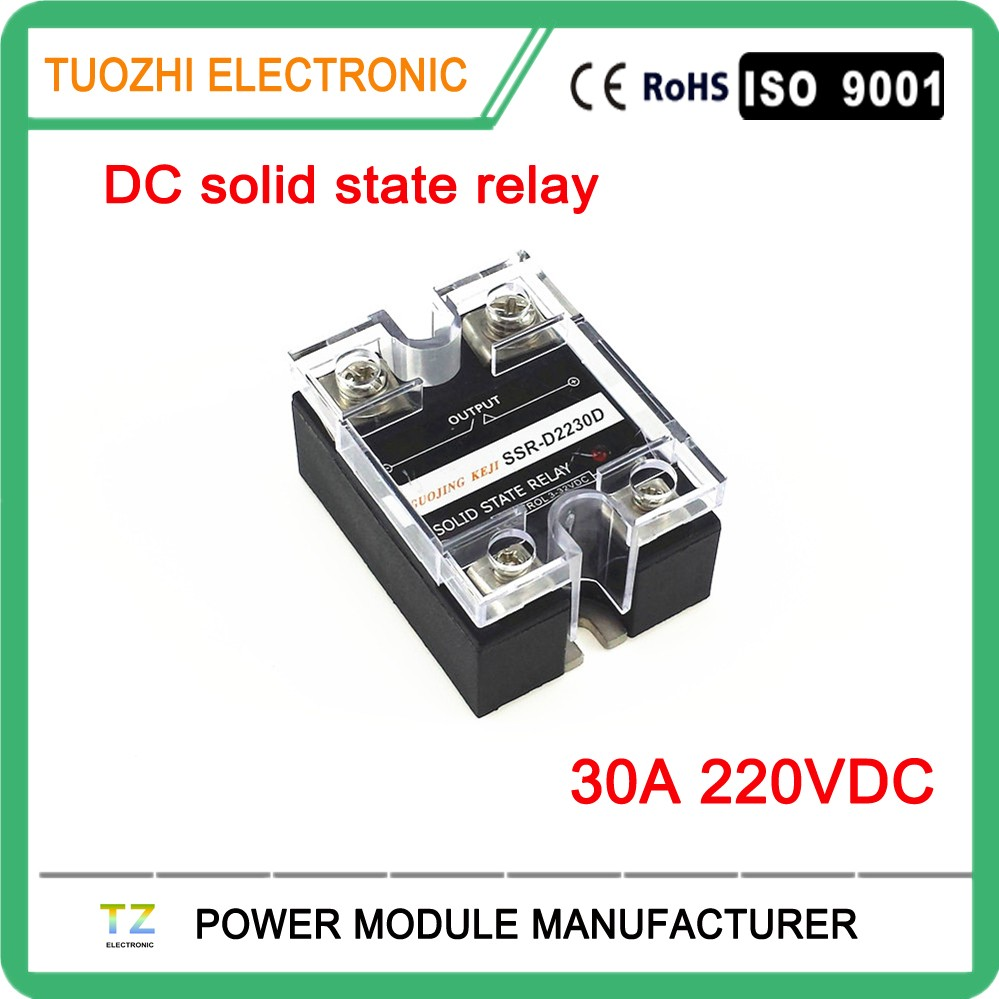 Single Phase Dc Ssr Solid State Relay 30a 220v Ssrd2230d Ssr30dd