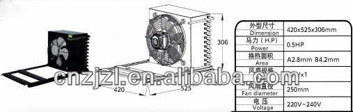 Air Cooled Condensing For Commercial Refrigerator Units