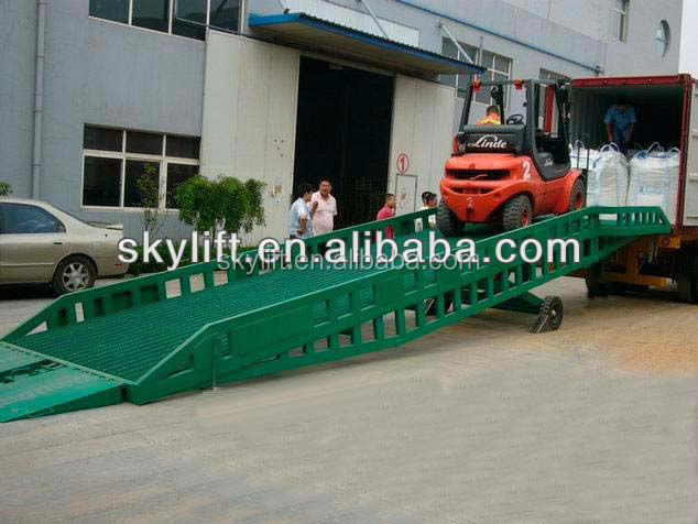 Manual Electric container loading ramp / Dock leveler