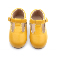 BEIBEINOYA Autumn Kids Shoes Leather Vintage T Strap Mary Jane Flats Children Shoes for Girls