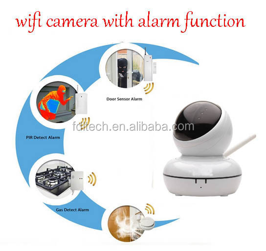 FDL-WF8 Work with PIR sensor, Gas leak sensor Wireless HD Linkage Video Alarm Camer IP