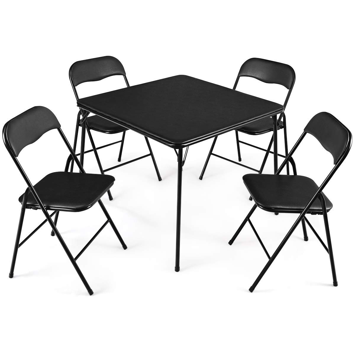 Get Quotations Giantex 5 Piece Folding Table And Chairs Set Multi Purpose Kitchen Dining