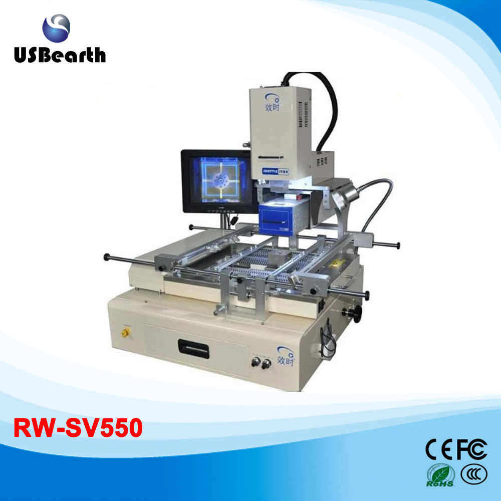 Hot selling!!! Shuttle star semi-auto RW-SV550 infrared and hot air 2 in 1 bga rework station system touch screen+CCD system