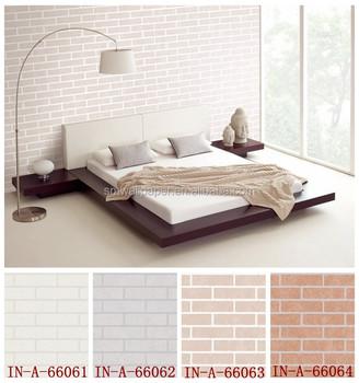 Hochwertige Weiße Farbe Pvc 3d Stein Ziegel Wand Tuch Tapete Buy
