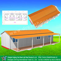 easy quickly install prefab house/temporary prefab dormitory/ prefabricated labor houses