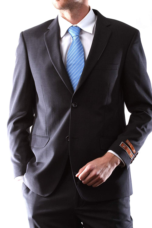 Martino Men's Wool Rich Brown Color Slim Fit Dress Suit