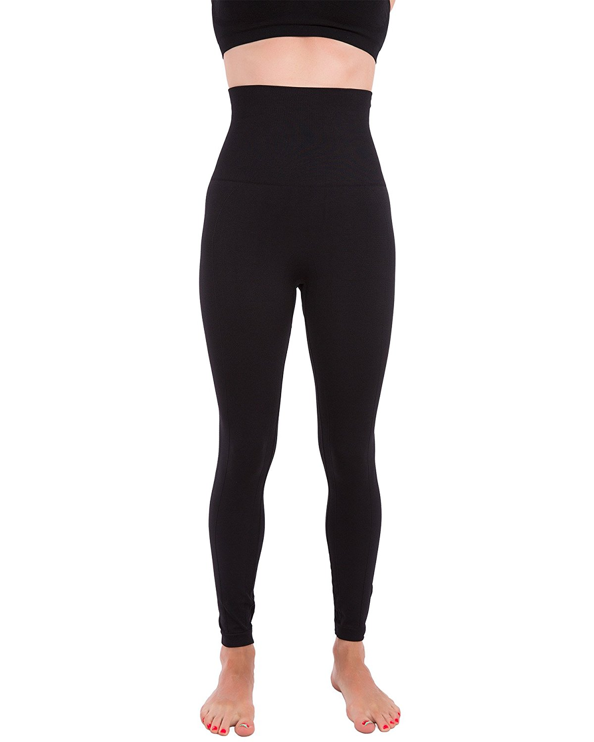 7e3568a0a8465b Get Quotations · Homma Premium Thick High Waist Tummy Compression Slimming  Leggings