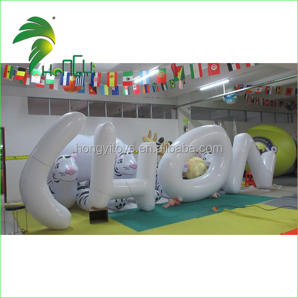 2016 Party Decoration Giant Inflatable CHON Letter With Different Colors