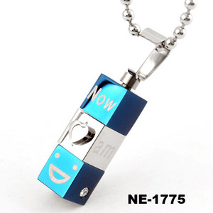 Korean Men Pendant Popular Fashion Jewelry Women Accessories Stainless Steel Necklace