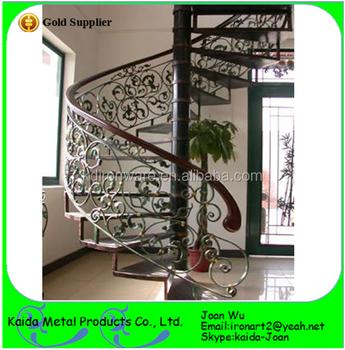 hochwertige innenschmiedeeisen metallgel nder handl ufe entwerfen f r gewundene treppen buy. Black Bedroom Furniture Sets. Home Design Ideas