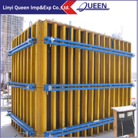 Formwork scaffolding and formwork plywood for shuttering beams
