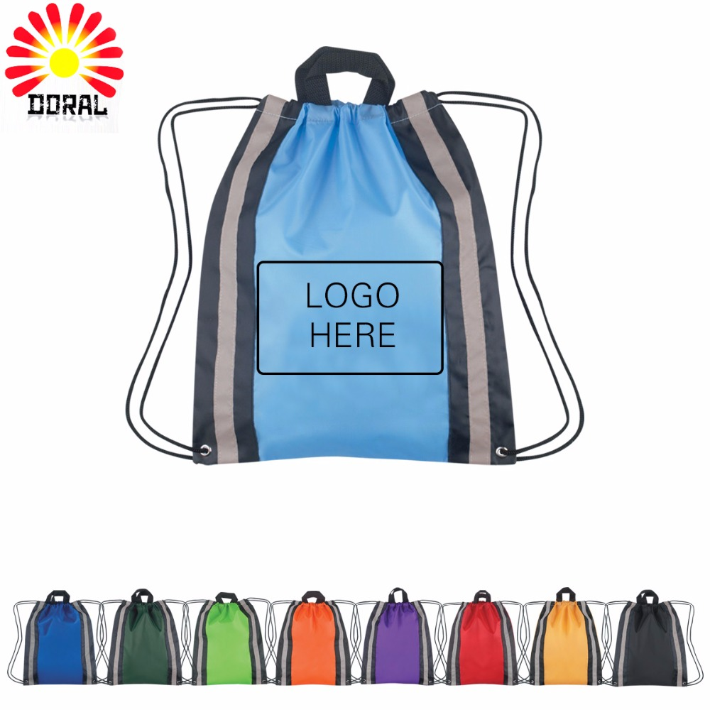 Wholesale Cheap Waterproof Nylon Drawstring Bag for Hiking Sports Event