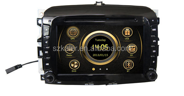 Manufacture! Wince 6.0 dual zone car GPS for Fiat 500 with GPS/3G/Bluetooth/TV/IPOD/RDS