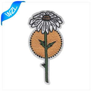 Iron on flower embroidery design patches custom embroidery applique