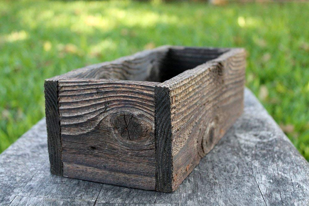 "12"" Cedar Rustic Planters Box (3.25-3.75""T - Short Version)"