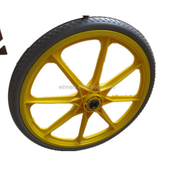 Charmant 20 Inch 20x2.125 Non Inflation Polyurethane Garden Cart Wheels