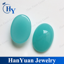 Factory price cabochon geen oval glass gemstone