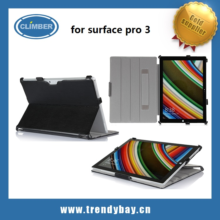 High quality stand flip leather For Microsoft Surface Pro 3 Case