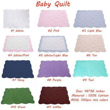 Wholesale Soft Customized Cotton Quilted Baby Quilt Buy