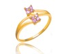 R0330 modern gold engagement rings light weight gold ring simple