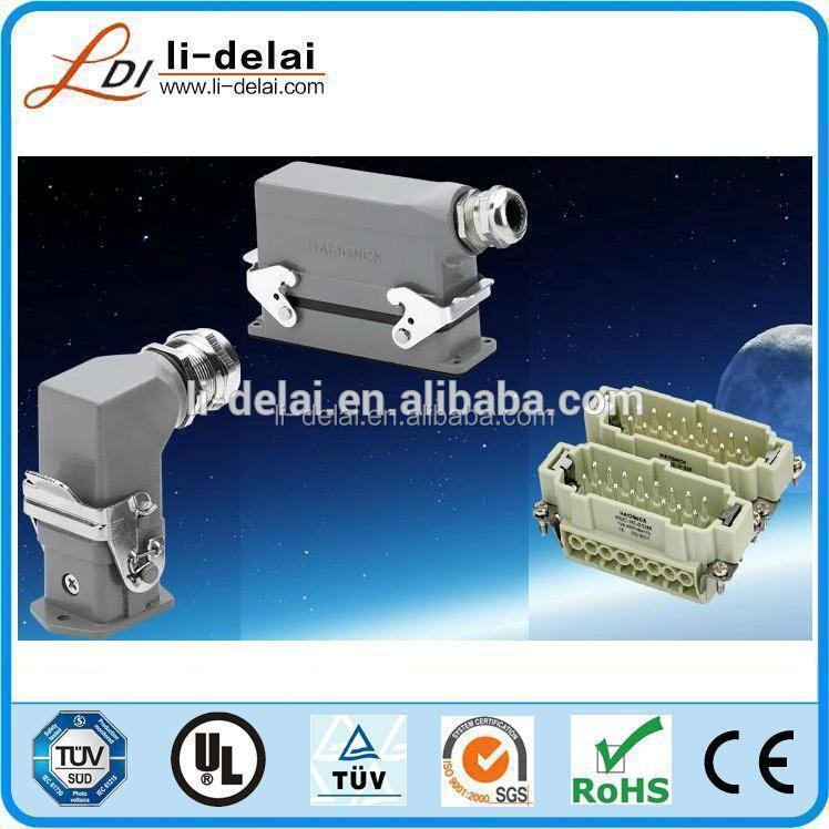 46 poles male female heavy duty connector hood and housing HEE serise heavy duty connector