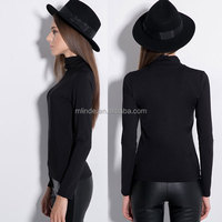 China Clothing Woman T-shirt Blouses With Turtleneck